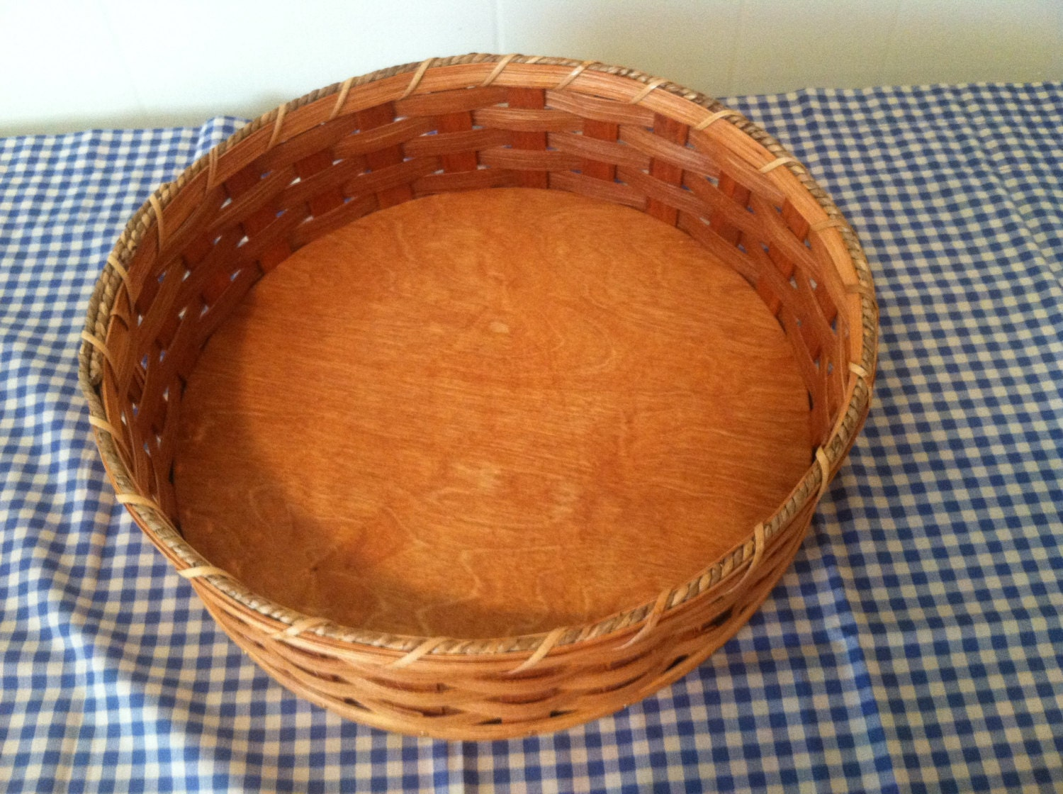 How To Weave A Basket Out Of Reeds : Handmade amish reed woven large round by amishhiddentreasures