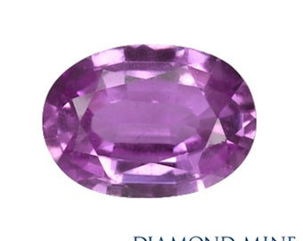 A Beautiful Natural Sapphire 1.57 Purple Oval AA