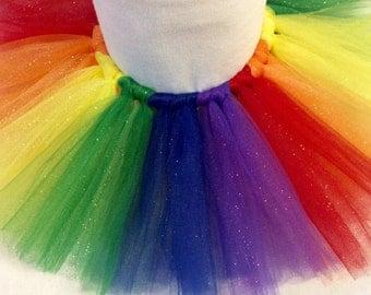 rainbow glitter tutu, rainbow tutu, colorful tutu, birthday tutu, fun run tutu, glitter tutu, baby tutu, girl tutu, rainbow, rainbow baby