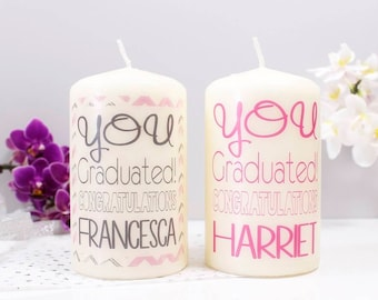 Graduation Candle - Personalised Candle - Personalised Graduation Gift - Graduation Gift - You Passed Gift - Congratulations Candle