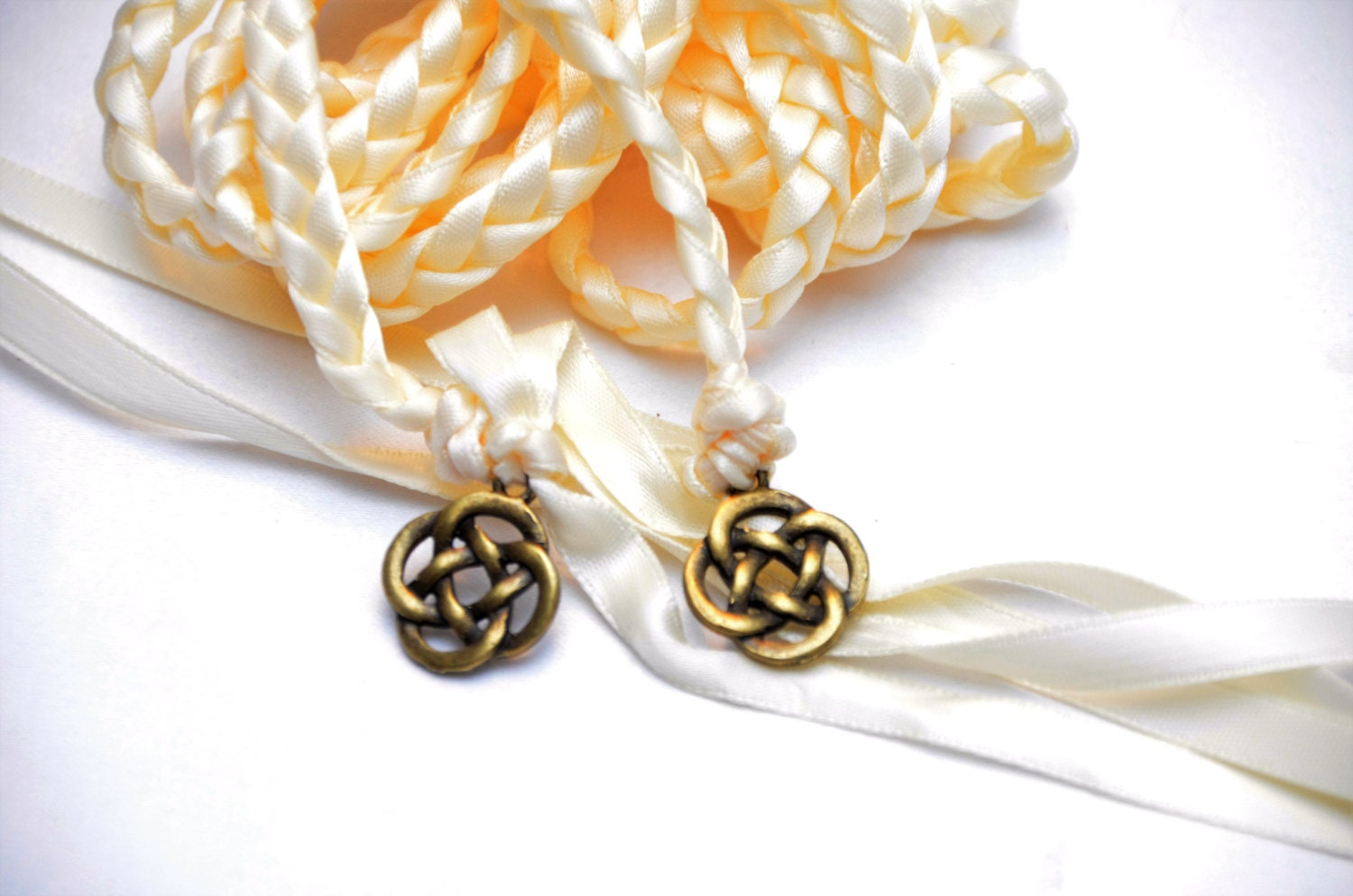 Celtic Knot Wedding Hand Fasting Binding Cord Choose Ribbon Color Amp Charm Wedding Ceremony