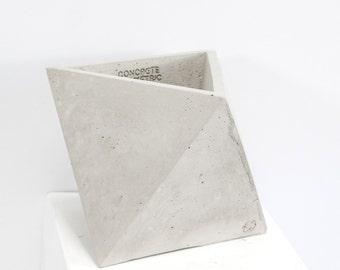 Béton navire géométrique Original moyen octaèdre