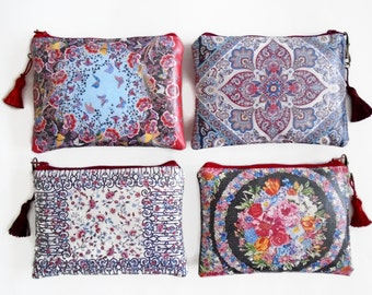Liberty Inspired Waterproof Ladies Wallet, Glasses case, Make-up Bag, Cosmetic Pouch, Coin Purse.