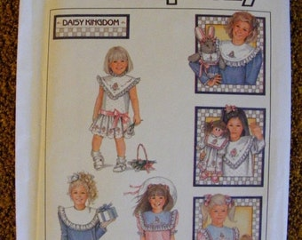 51% OFF Daisy Kingdom Uncut Simplicity Sewing Pattern 8594 Child's Dress Detachable Collars Size 5