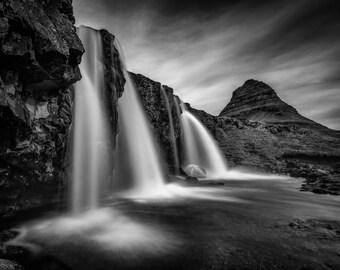Icelandic Waterfall Photograph - Kirkjufell Waterfall