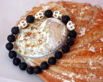 Lava Skull bracelet - Underworld Deity