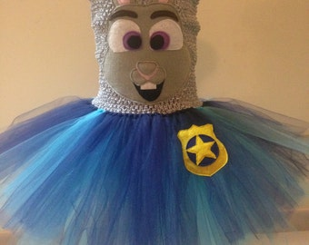 Zootopia inspired tutu dress Judy Hopps inspired tutu dress