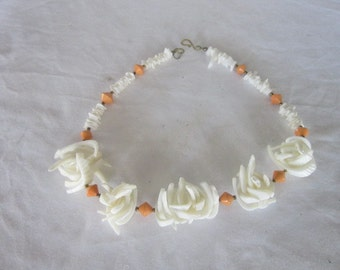 Wonderful Puka Shell Wild & Crazy  Retro Necklace