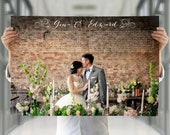 1st anniversary gift, paper anniversary gift, anniversary gift for wife, anniversary gift for husband, wedding vows poster