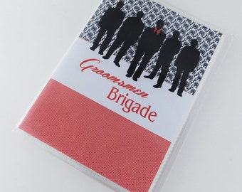 Groomsmen Photo album Best Man gift Bridal Party Personalized Wedding Gift Groomsman 4x6 or 5x7 649