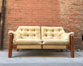 Mid Century Modern Percival Lafer-Style Sling Mid Century Sofa