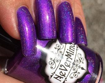 Purple Linear Holo Nail Polish - Holographic Nail Lacquer - 15ml Bottle - Somnophilia