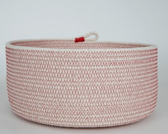 natural rope basket, bowl -large