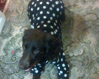 dog onesie polka dots made to your measurements