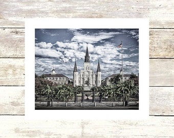 New Orleans Art  JACKSON SQUARE  Saint Louis Cathedral  Fine Art Photograph  Limited Edition of 250 Louisiana Art  New Orleans Photography
