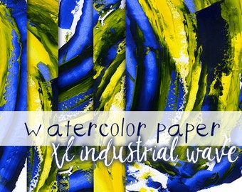 Acrylic Paper, Artistic digital paper, paper texture, painted digital paper, green yellow blue digital paper, abstract paper artwork
