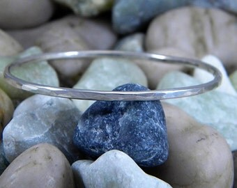 Sterling Silver Stacking Bangle Hammered