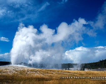 Old Faithful, Landscape Photography, Archival Giclee Print, Nature Photo - Multiple Sizes Available