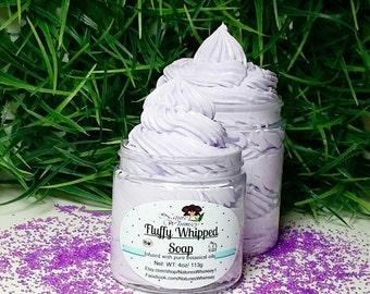 Whipped Soap - Sweet Dream lavender Creamy - Whip Soap, Fluffy Whipped Soap, Fluff Soap, Soap in a Jar, Gift For Mom, Teen Gift, Spa Gift