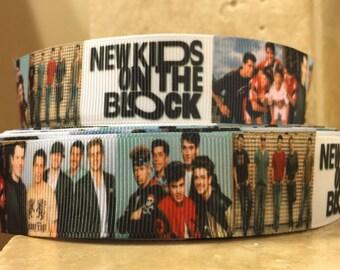 5 YDS NKOTB New Kids On The Block Ribbon