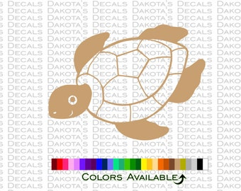 Sea Turtle Outline Decal