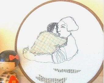 Embroidery hoop art Hand embroidery in hoop Embroidery Wall Art House
