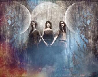 Triad of the Goddess, 16X20 Poster Print