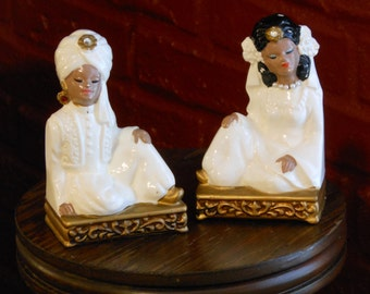 Hand Painted Tilso Prince & Princess Bejeweled Figurines