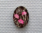 Magnetic Floral Needle Minder for Cross Stitch, Embroidery, & Needlecrafts (18mmx25mm with Strong Magnet)