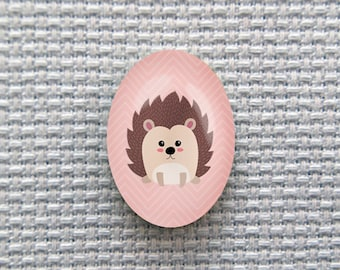 Magnetic Hedgehog Needle Minder for Cross Stitch, Embroidery, & Needlecrafts (18mmx25mm with Strong Magnet)