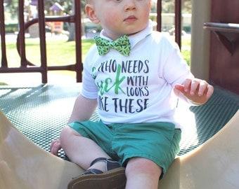 Boy's Green Bow Tie