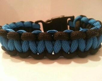 Large Black and Blue Paracord Bracelet
