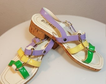 FREE  SHIPPING  Vintage  Psychedelic Sandals
