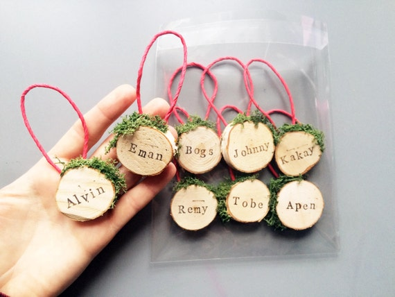 Personalised Christmas Tree Ornaments / By RachelEmmaStudio
