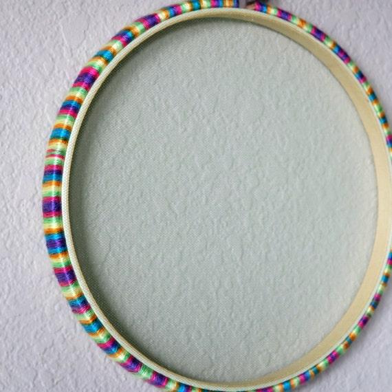 Multi color brights hoop jewelry organizer decorative wall