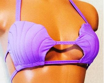 Mermaid shell bra bikini top
