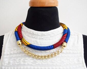 African Print Ankara Necklace