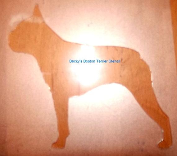 Puppy Bows ~ Boston Terrier dog breed plastic craft stencil