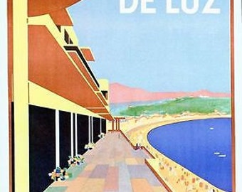 Vintage FrenchTravel Poster Deluz A3/A2/A1 Print