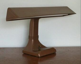 Vintage Mid Century Desk Lamp Industrial Office Fluorescent Light Master Art Specialty FREE SHIPPING