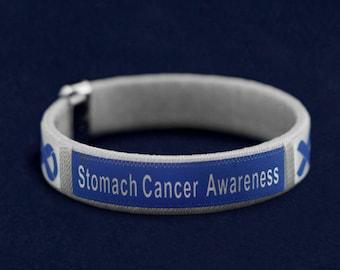 Stomach Cancer Awareness Bangle Bracelet (Retail) (RE-B-22-21SC)