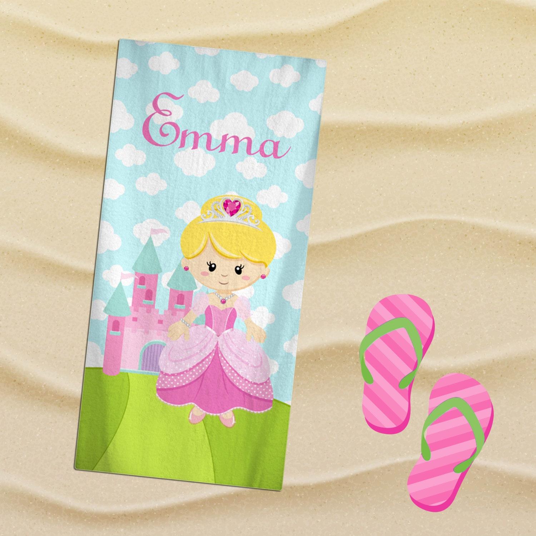 Monogrammed Princess Beach Towel