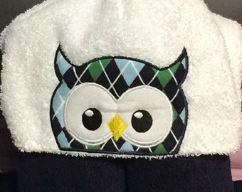 Boys Owl Hooded Towel