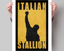 "ROCKY Inspired ""Italian Stallion"" Minimalist Movie Poster Print - 13""x19"" (33x48 cm)"