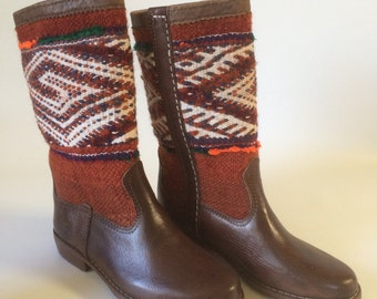 Handcrafted Kilim boots.