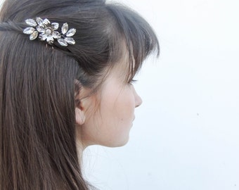 Flower hair pins/ Swarovski Crystal Hair Pins/ Hair Pins/ Bridal Hair Accessories/ Wedding Hair Accessories/ Bridal hair pin