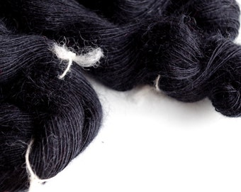 Hair: Black Mohair Yarn (110g)