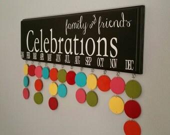 Family Birthday Board. Family & Friends CELEBRATIONS, Birthday Calendar organizer