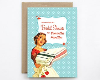 Wedding Shower Invitation, Retro Shower Invite - Fifties Fabulous