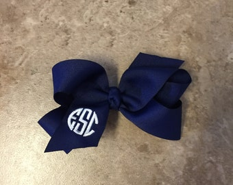 Monogrammed Twisted Boutique Bow